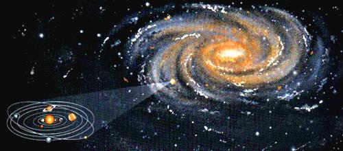 Resultado de imagen de via lactea y sistema solar para niños