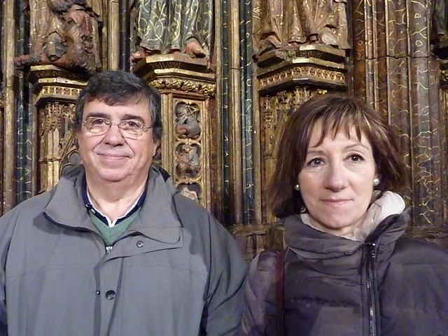 Mikel Serrano y Maite Ayala