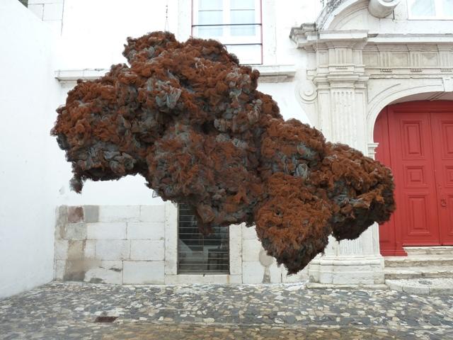 Escultura, Patio Palacio Belmonte, Lisboa