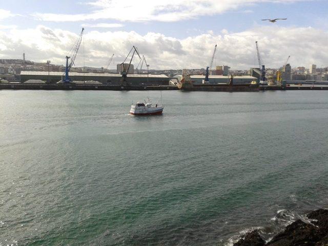 Entrando en la Coruña