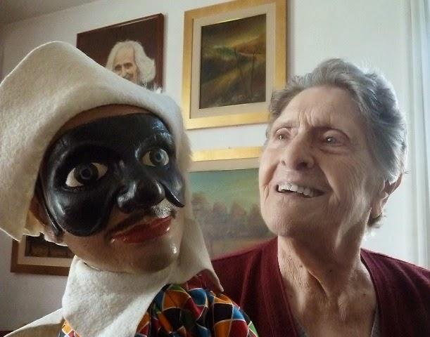Pina Ravasio, con Arlequino