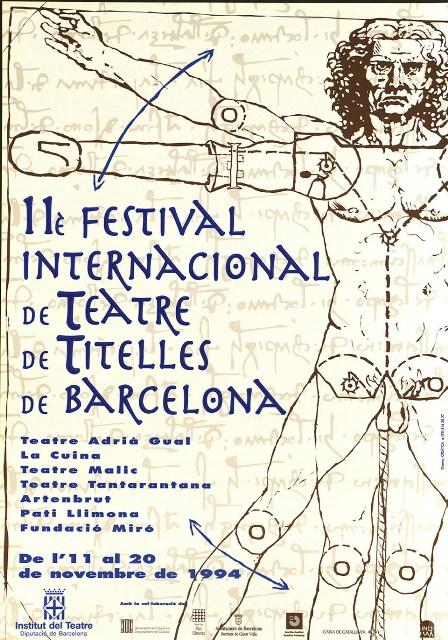 Cartelll Festival de Titelles de Barcelona 1994