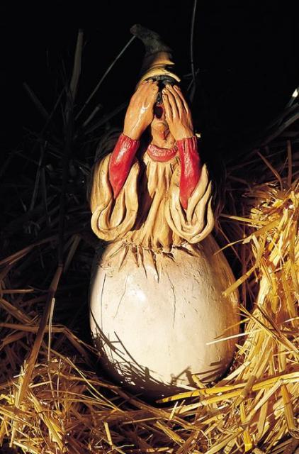 Pulcinella nace del huevo, Museo di Pulcinella, Acerra