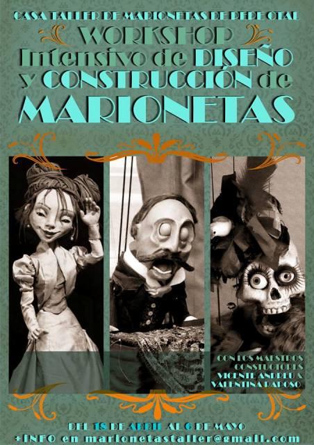 curso Valentina Raposo y Vicente Andreu, Marionetas de hilo
