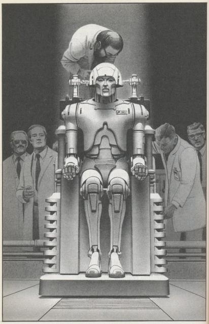 Ilustración de Ralph McQuarrie para el libro de Isaac Asimov 'Robot Visions', 1989.