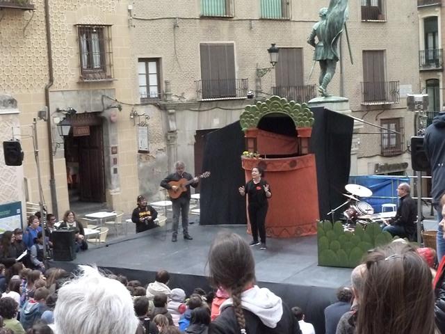 La Gotera de Lazotea en plena actuación.