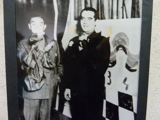 García Lorca con Antonio Cunill Cabanellas, en el Teatro Avenida, en 1934