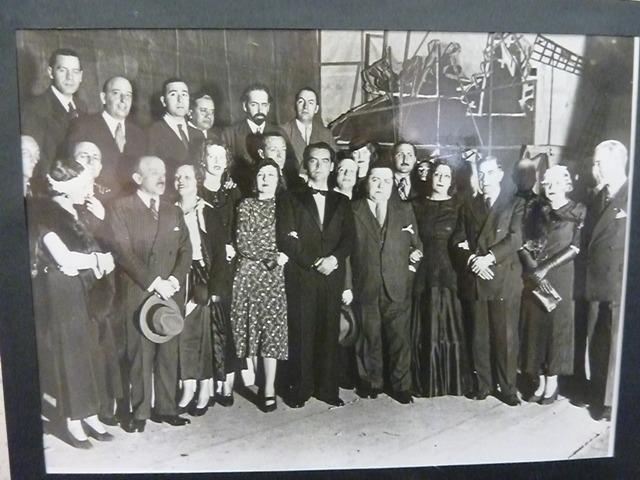 García Lorca con los amigos que participaron en su representación titiritera