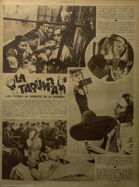 La Tarumba en el periódico Ahora, 1937