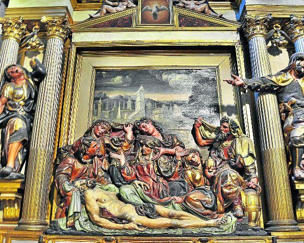 Retablo del Entierro, Catedral de Segovia.
