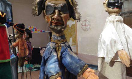II: Exposición 'Giù la maschera' y 'MAgicaBUra!', Festival de Teatro di Figura, en Pordenone, Italia: Paolo Papparotto, Ortoteatro, Pietro Roncelli