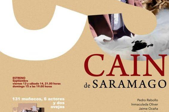 El Teatro Arbolé celebra el 40 aniversario de la compañía con el estreno de 'CAÍN DE SARAMAGO'