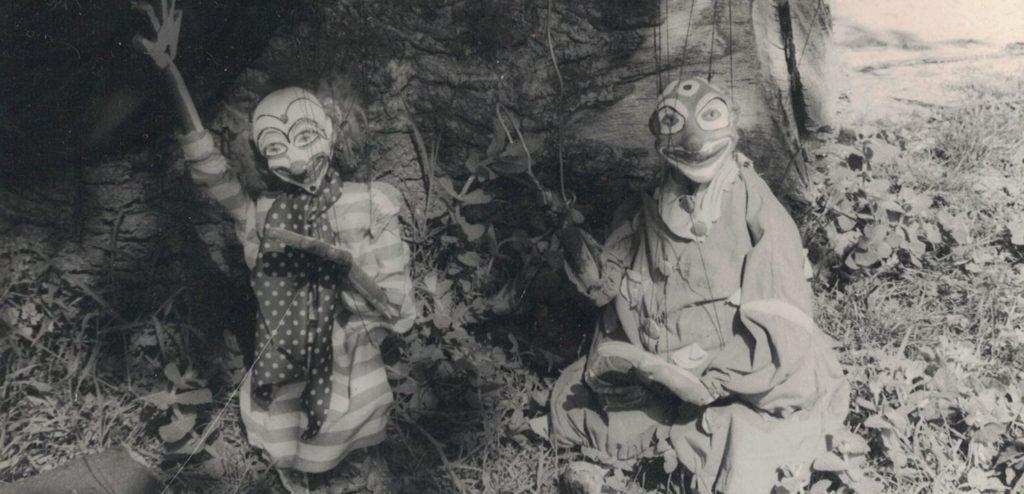 Dos marionetas de Teatrinho de Feiras, construidas por Rafael Vázquez.