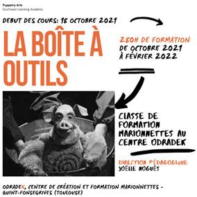 Curso de formación de marionetas 'La Boîte à Outils', en el Odradek, Toulouse @ Centre Marionnettes ODRADEK