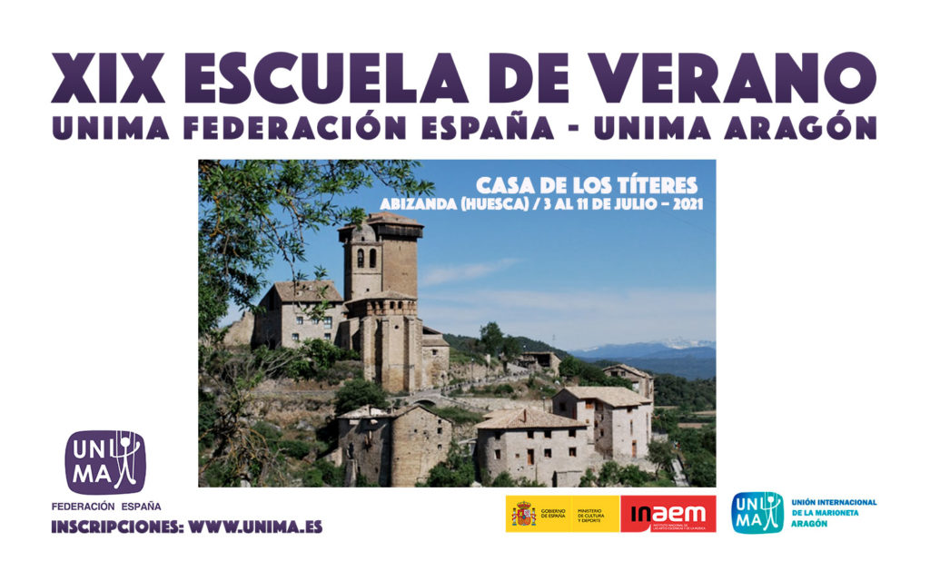 Escuela de Verano de Unima Federación España, en Abizandas (Huesca) @ La Casa de los Títeres