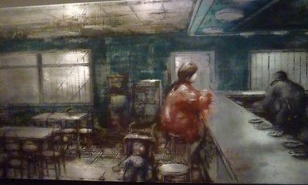 """""""Mirada y Relato"""", de Ignacio Fortún, y el Pelegrín de Arbolé, con Pablo Girón,  en la Plaza de los Sitios de Zaragoza"""