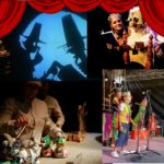 I – Parque de las Marionetas 2021, Zaragoza: 'Jolgorio del bueno', 'Cuentos de papel y tijera', 'Pequeños en la granja' y 'Hermosinda'